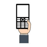 Mobile phone in hand technology Stock Photography