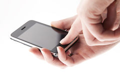Mobile phone in the hands Royalty Free Stock Photo