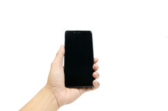 Mobile phone in hands Stock Photos