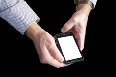 Mobile phone in the hands Royalty Free Stock Photography