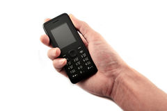 Mobile phone in the hands Royalty Free Stock Images