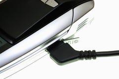Mobile phone headphones plug Royalty Free Stock Image