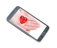 Mobile phone high tech Stock Images