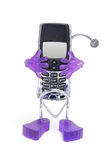 Mobile Phone with Holder. On White Background Stock Photography