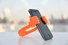 Mobile Phone Holder Stock Photography