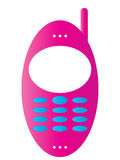 Mobile phone icon. Pink color Mobile phone icon Royalty Free Stock Photo