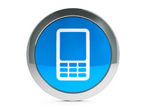 Mobile phone icon with highlight Royalty Free Stock Photography
