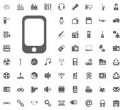 Mobile phone icon. Media, Music and Communication vector illustration icon set. Set of universal icons. Set of 64 icons.  Royalty Free Illustration