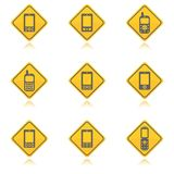 Mobile phone icon pack. Two colors mobile phone icon set Stock Photography