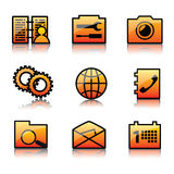 Mobile phone icon set Royalty Free Stock Photo
