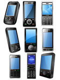 Mobile phone icone set Stock Photos