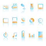 Mobile phone icons Stock Photo