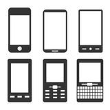 Mobile phone icons. Simple illustration of mobile phone icons Stock Image
