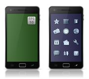 Mobile phone with icons Royalty Free Stock Image