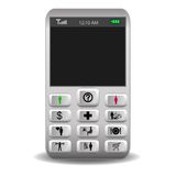 Mobile phone with icons on the buttons call Royalty Free Stock Photos