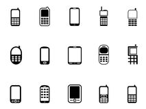 Mobile phone icons. Isolated Mobile phone icons from white background Royalty Free Stock Photography