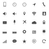Mobile phone icons with reflect on white backgroun Royalty Free Stock Photo