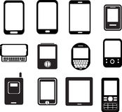Mobile phone icons Stock Photo