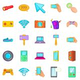 Mobile phone icons set, cartoon style. Mobile phone icons set. Cartoon set of 25 mobile phone vector icons for web isolated on white background Royalty Free Stock Photo