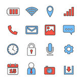 Mobile phone icons Stock Images