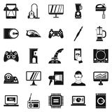 Mobile phone icons set, simple style. Mobile phone icons set. Simple set of 25 mobile phone vector icons for web isolated on white background royalty free illustration
