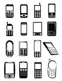 Mobile Phone Icons. Simple illustration of mobile phone icons set Royalty Free Stock Photos