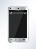 Mobile phone illustration. Illustration of silver color touch mobile phone Stock Photography