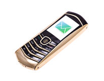 Mobile phone with incoming message (SMS) Royalty Free Stock Image