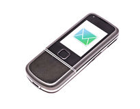 Mobile phone with incoming message (SMS) Royalty Free Stock Photo