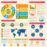 Mobile phone  infographic Stock Photo