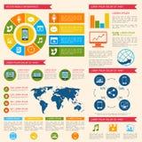 Mobile phone  infographic Stock Photo