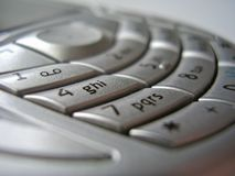 Mobile phone interface royalty free stock image
