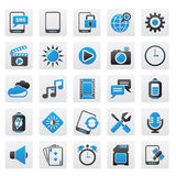 Mobile Phone Interface icons Stock Photo