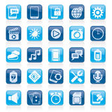 Mobile Phone Interface icons. Vector icon set Stock Photography