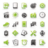 Mobile Phone Interface icons Royalty Free Stock Image
