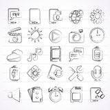 Mobile Phone Interface icons royalty free illustration