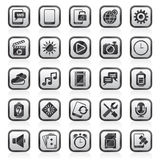 Mobile Phone Interface icons Royalty Free Stock Photo