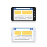 Mobile Phone Internet Browser Horizontal Template Stock Photo