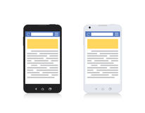 Mobile Phone Internet Browser Vertical Template Stock Image