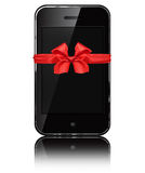 Mobile phone iphon style Royalty Free Stock Photo
