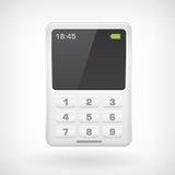 Mobile phone isollated icon. On white background Stock Illustration