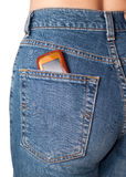 Mobile phone in jeans   Royalty Free Stock Image