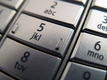 Mobile phone key stock images