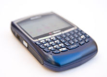 Mobile phone with  key pad and screen. Royalty Free Stock Image