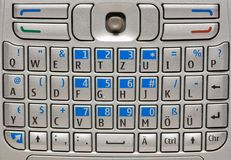 Mobile phone keyboard. Royalty Free Stock Images