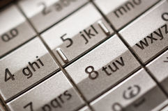 Mobile phone keyboard Stock Photos