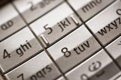 Mobile phone keyboard Stock Photos