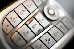 Mobile phone keypad Stock Images