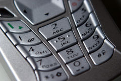 Mobile Phone, Keypad Royalty Free Stock Photos
