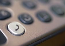 Mobile phone keypad detail. stock images
